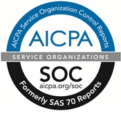 AICPA Service Orginazation Control Reports SSAE-16 Audited Faciility Logo